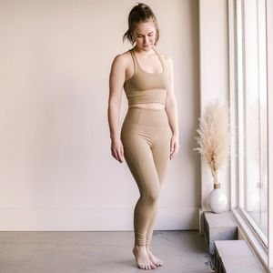 Girlfriend Collective leggings in sand
